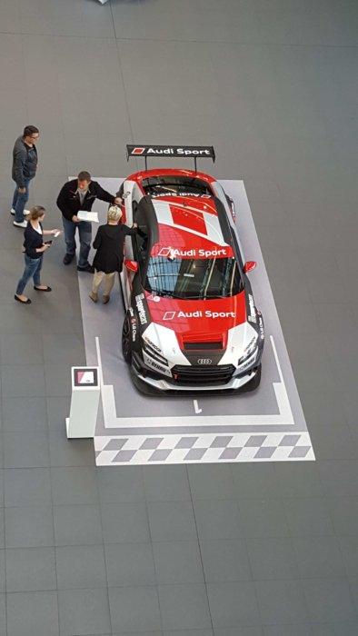 Sportwagen Präsentation Ausstellungsdesign