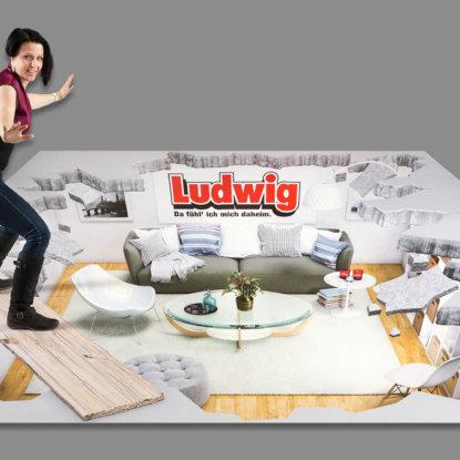 MöbelLudwig 3D Straßenbild Wohnzimmer
