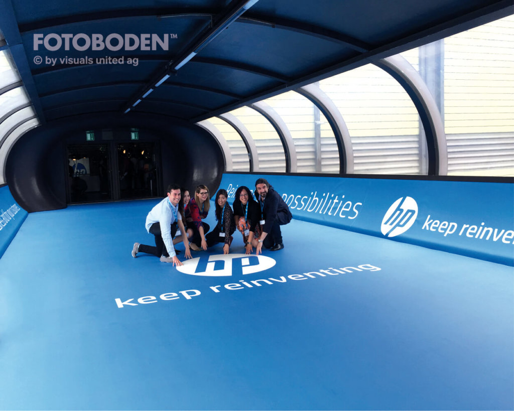 Hp tunnel Fotoboden Messeboden