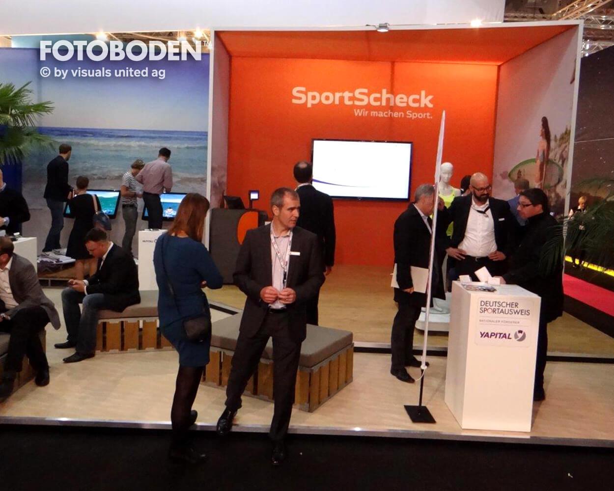 Sportcheck FOTOBODEN™ Messeboden Tradeshow