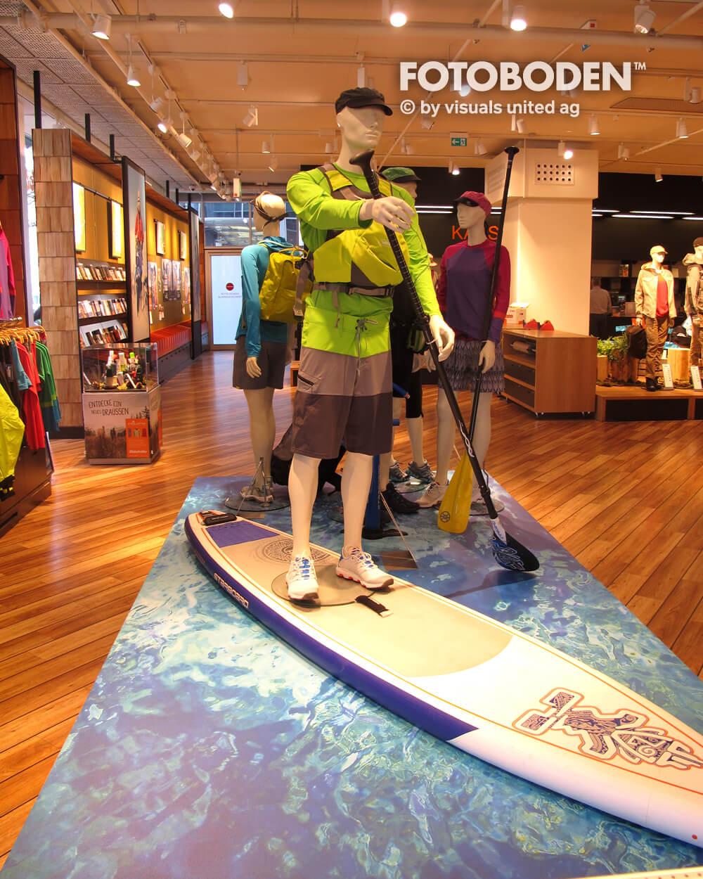 Surf Ladenbau Ladengestaltung Fußboden