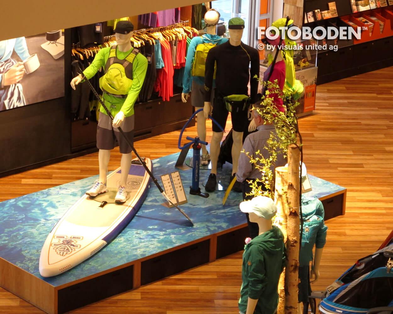 Surfer Ladenbau Ladengestaltung Fußboden