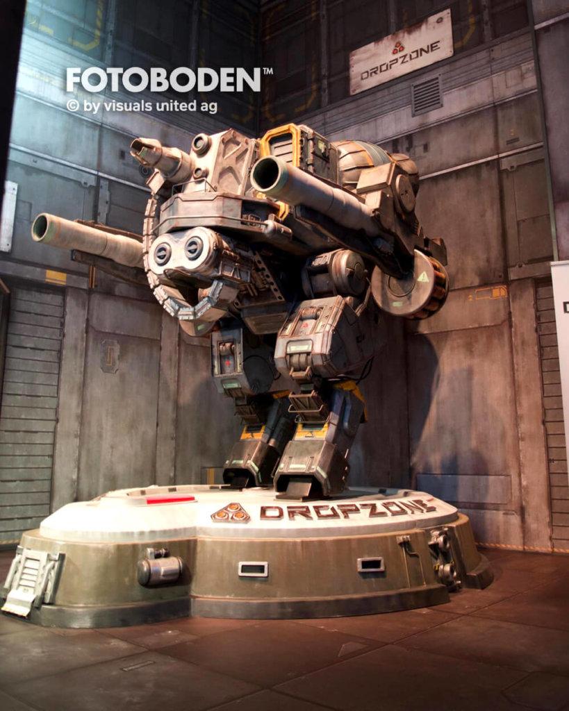 Gamescom Dropzone Roboter Fotoboden