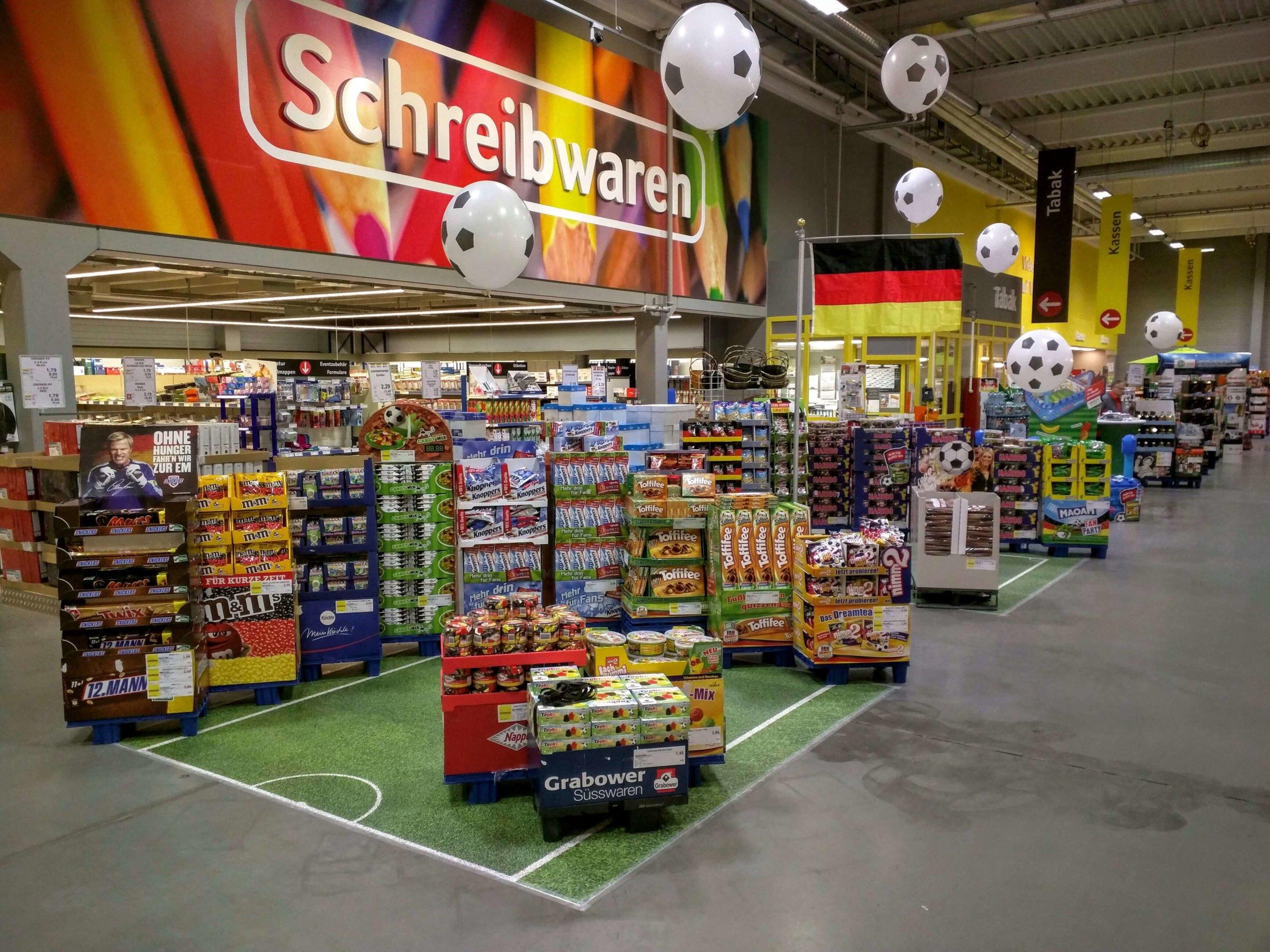 Handelskette Verkaufsfläche Bodengestaltung