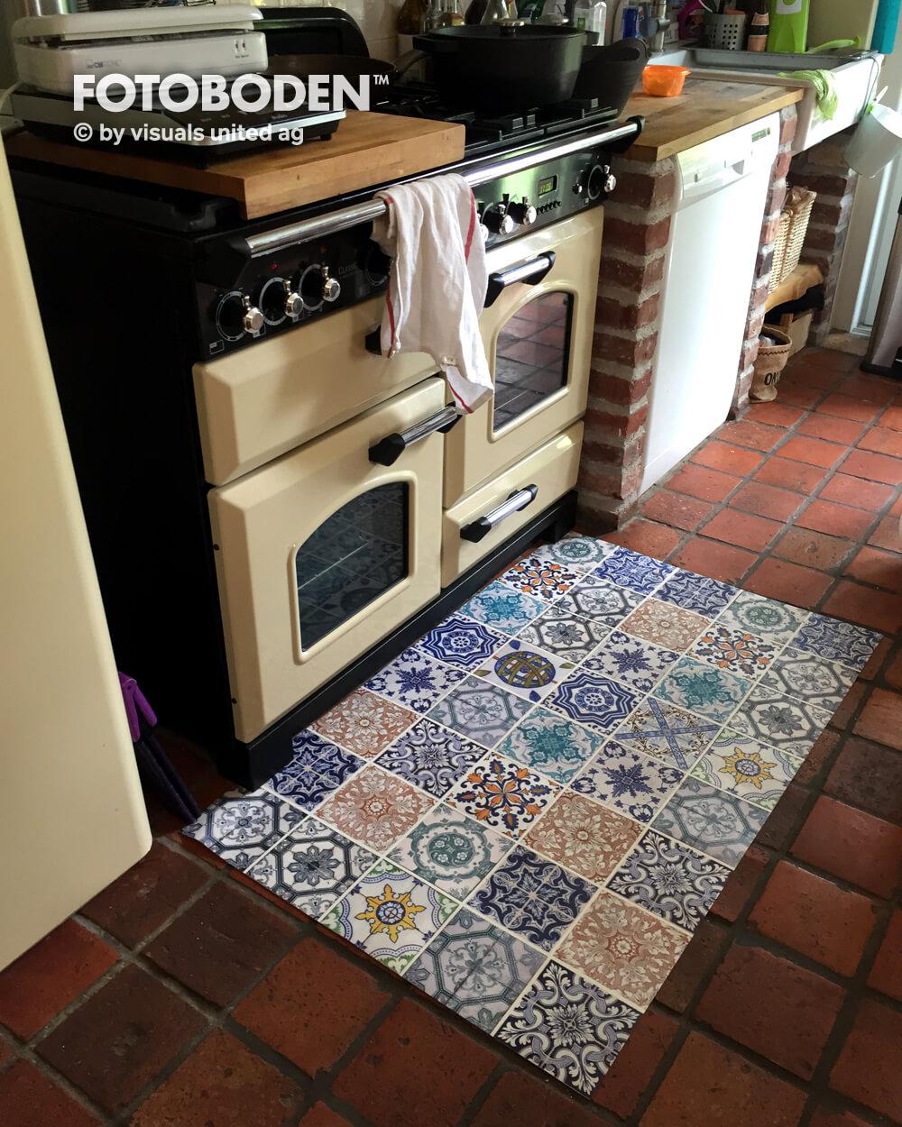Fu Boden K Che küchengestaltung geht auch mit fotoboden fotoboden de