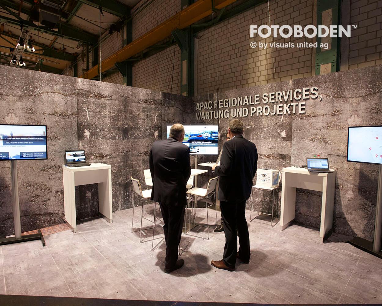 Fotoboden Messeboden Tradeshow