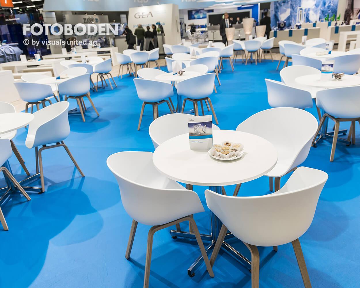 FOTOBODEN™ Messeboden Gastronomie Vinyl