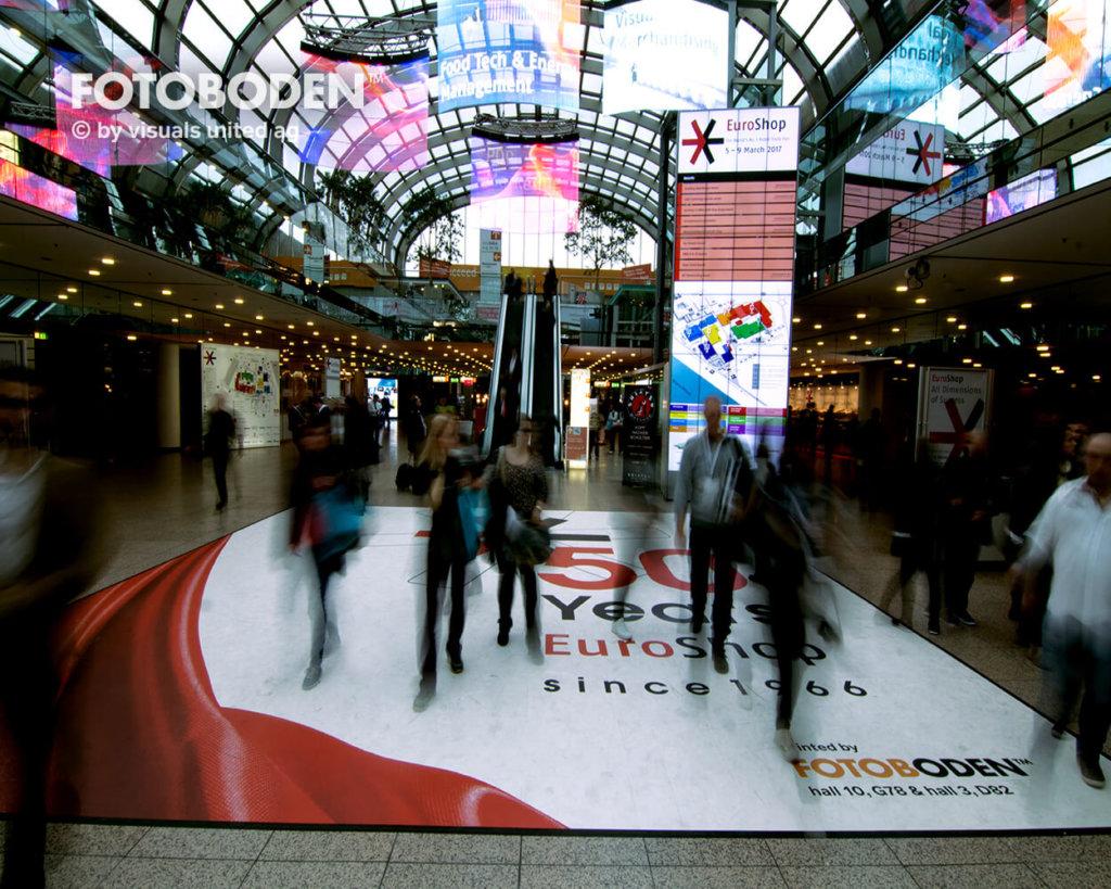 Fotoboden Messeboden Personalisierte Fußmatte