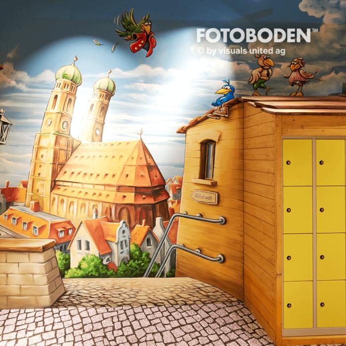 Ladenbau Vinylboden FOTOBODEN™ Indoor Kinderspielplatz