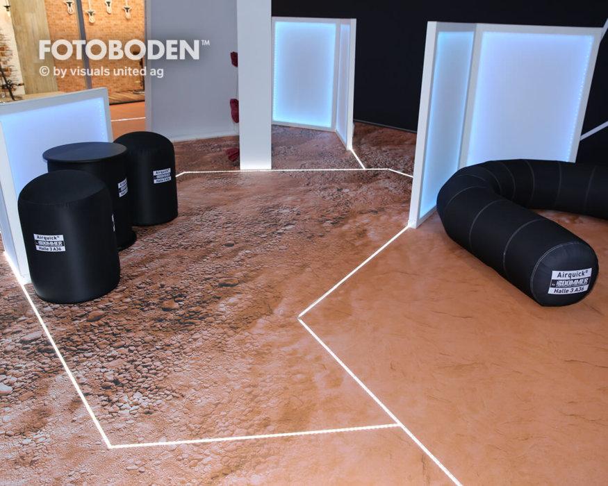 FOTOBODEN™ Messeboden Messestand Ideen