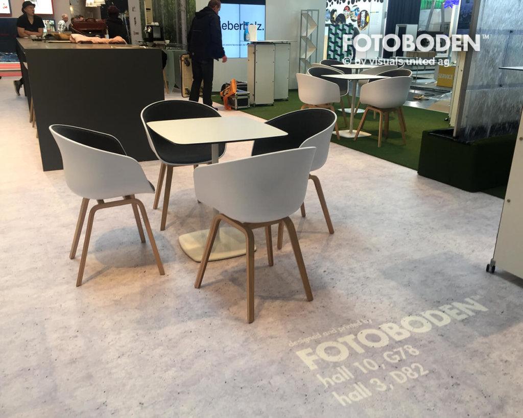 Fotoboden Messeboden Vinylboden Designbelag PVC