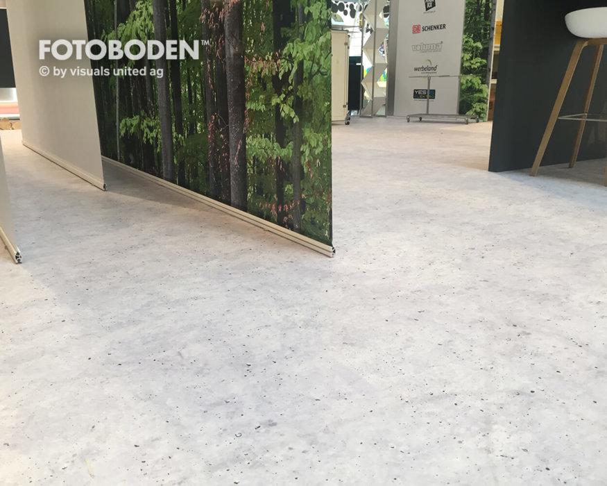 Fotoboden Messeboden Elastische Bodenbeläge
