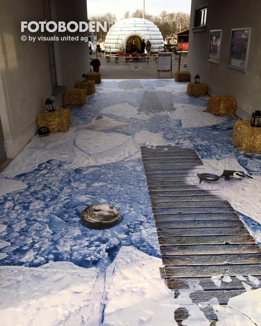 Bühnenbau Theater 3D Boden Designboden