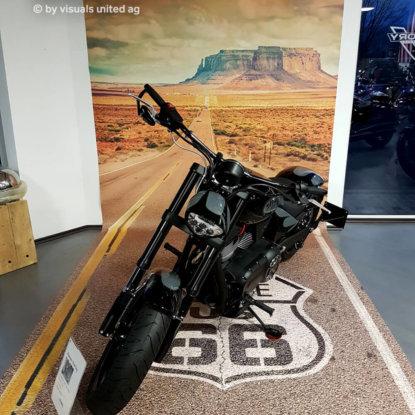 FOTOBODEN™ Motivboden Fußboden Autohaus