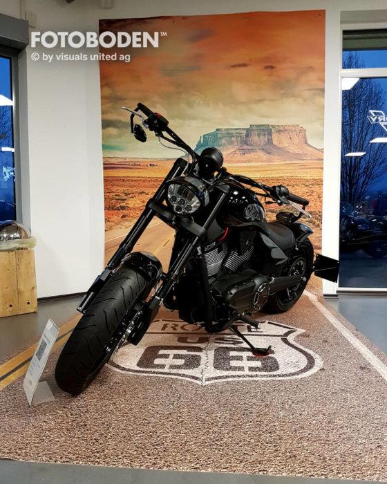 FOTOBODEN™ Auto Ausstellungsdesign Motorrad
