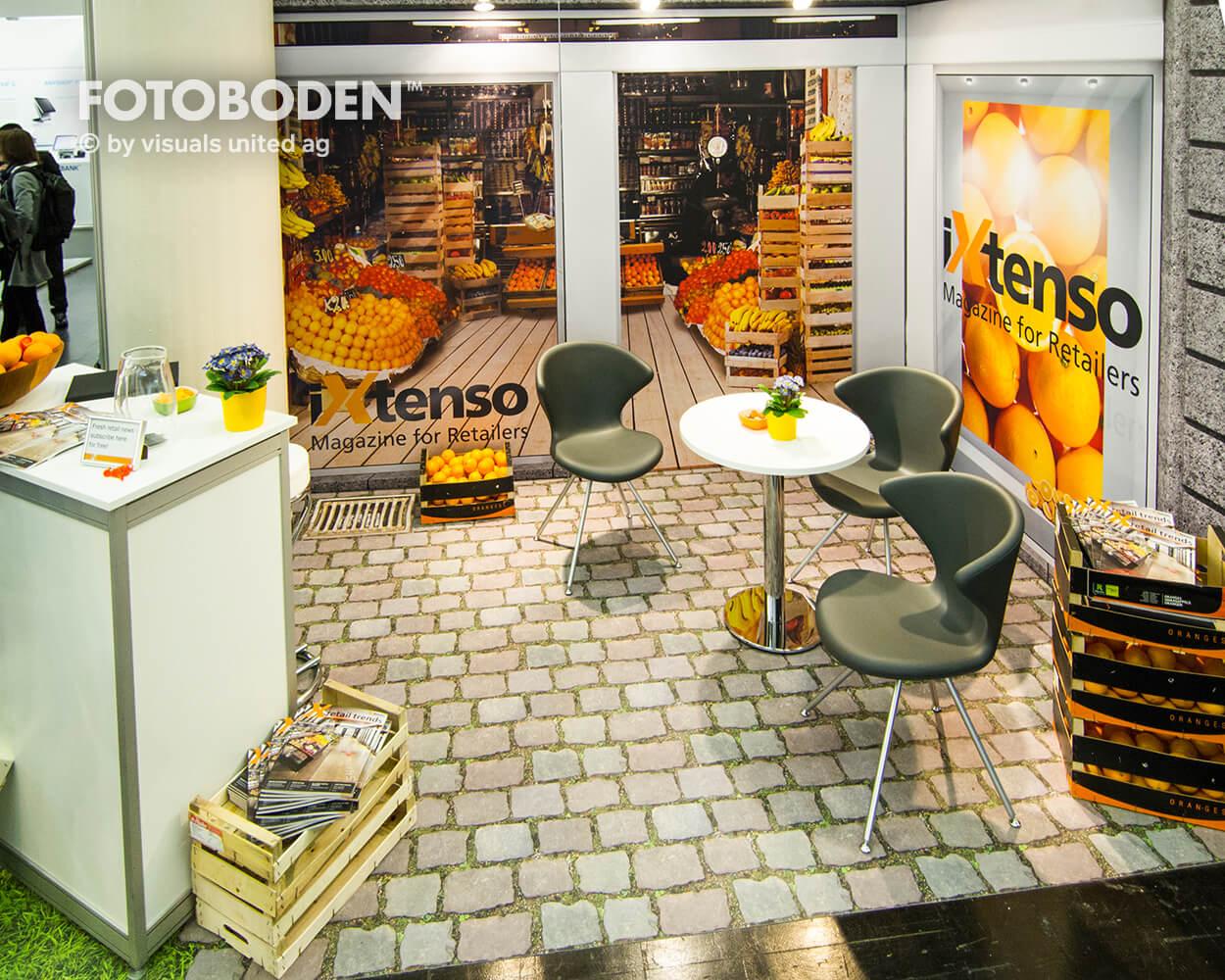 FOTOBODEN™ Messeboden Raumgestaltung Gastronomie interior design