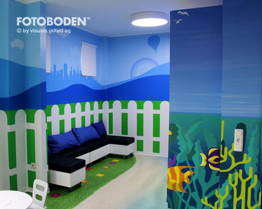 Inder Kinderspielplatz FOTOBODEN™ Vinylboden