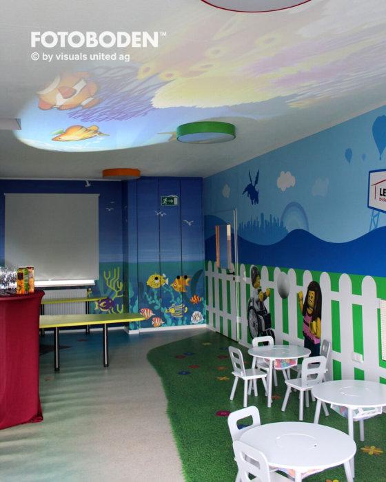 FOTOBODEN™ Indoor Kinderspielplatz Kindercafé
