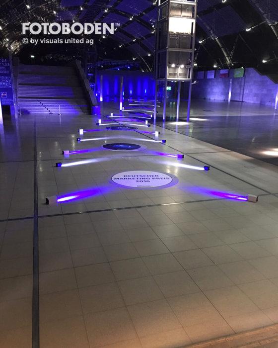 Fotoboden Messeboden Bodenaufkleber