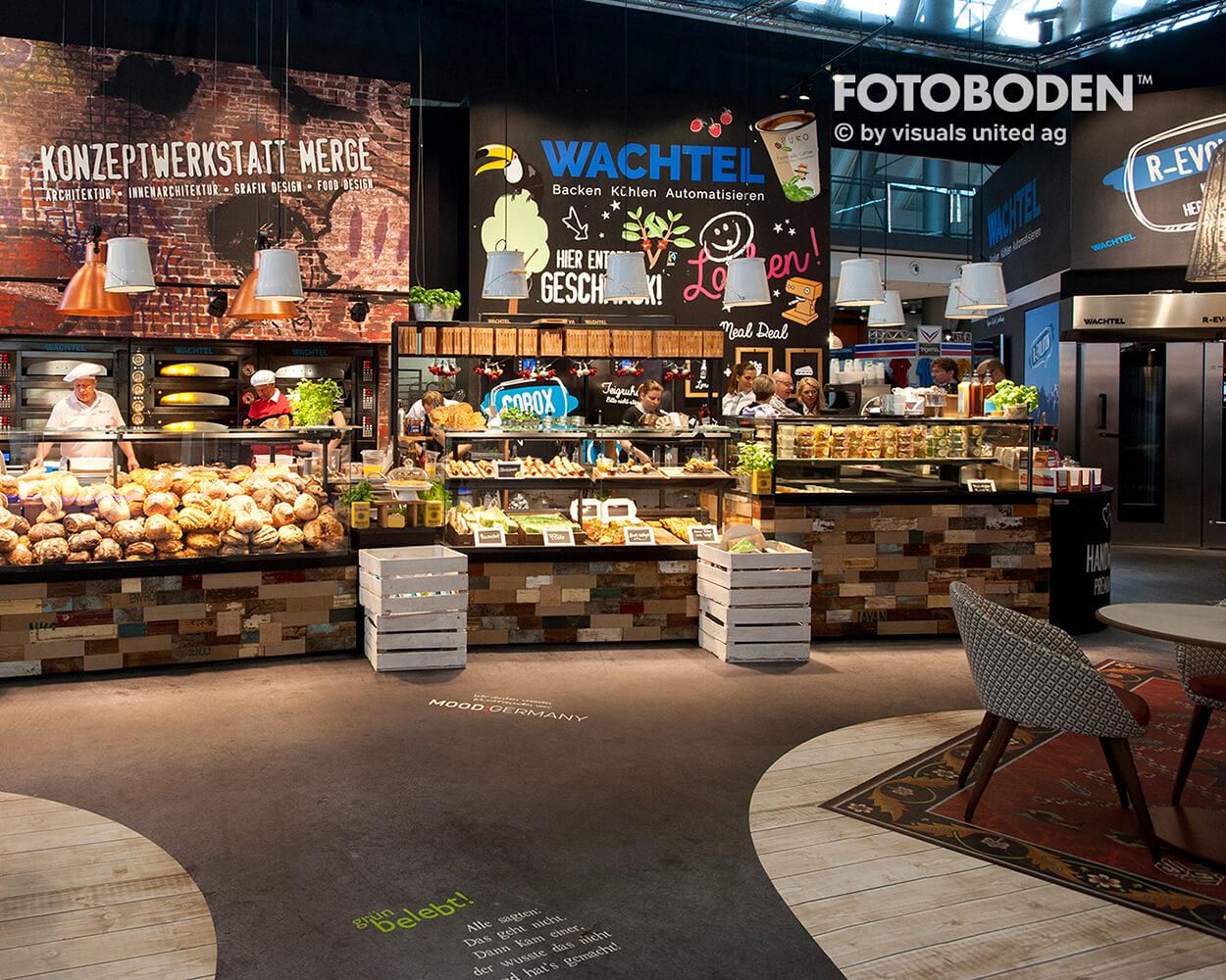 Gastronomie Verkaufsfläche Fotoboden Einkaufszentrum