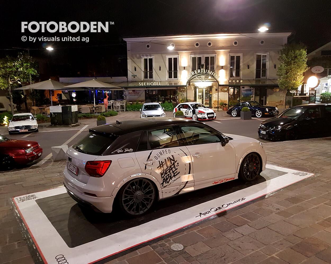 Audi Fotoboden Flooring Fußboden Bodengestaltung Floorminder Bodendruck Werbung Fußbodenwerbung Bodenwerbung Merchandising Advertising Visualmerchandising2