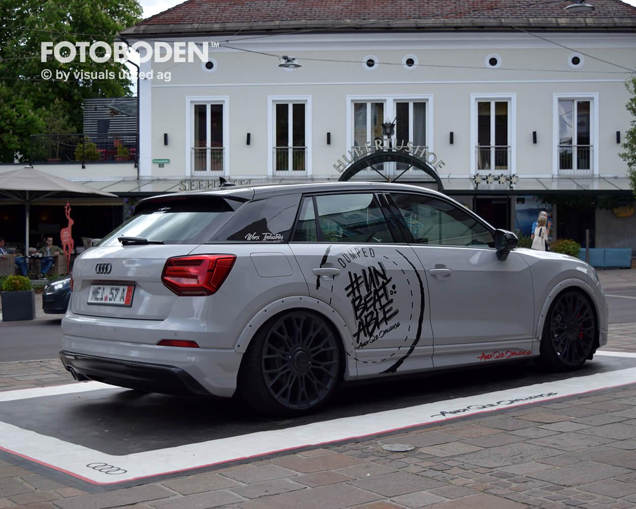 Audi Fotoboden Flooring Fußboden Bodengestaltung Floorminder Bodendruck Werbung Fußbodenwerbung Bodenwerbung Merchandising Advertising Visualmerchandising5