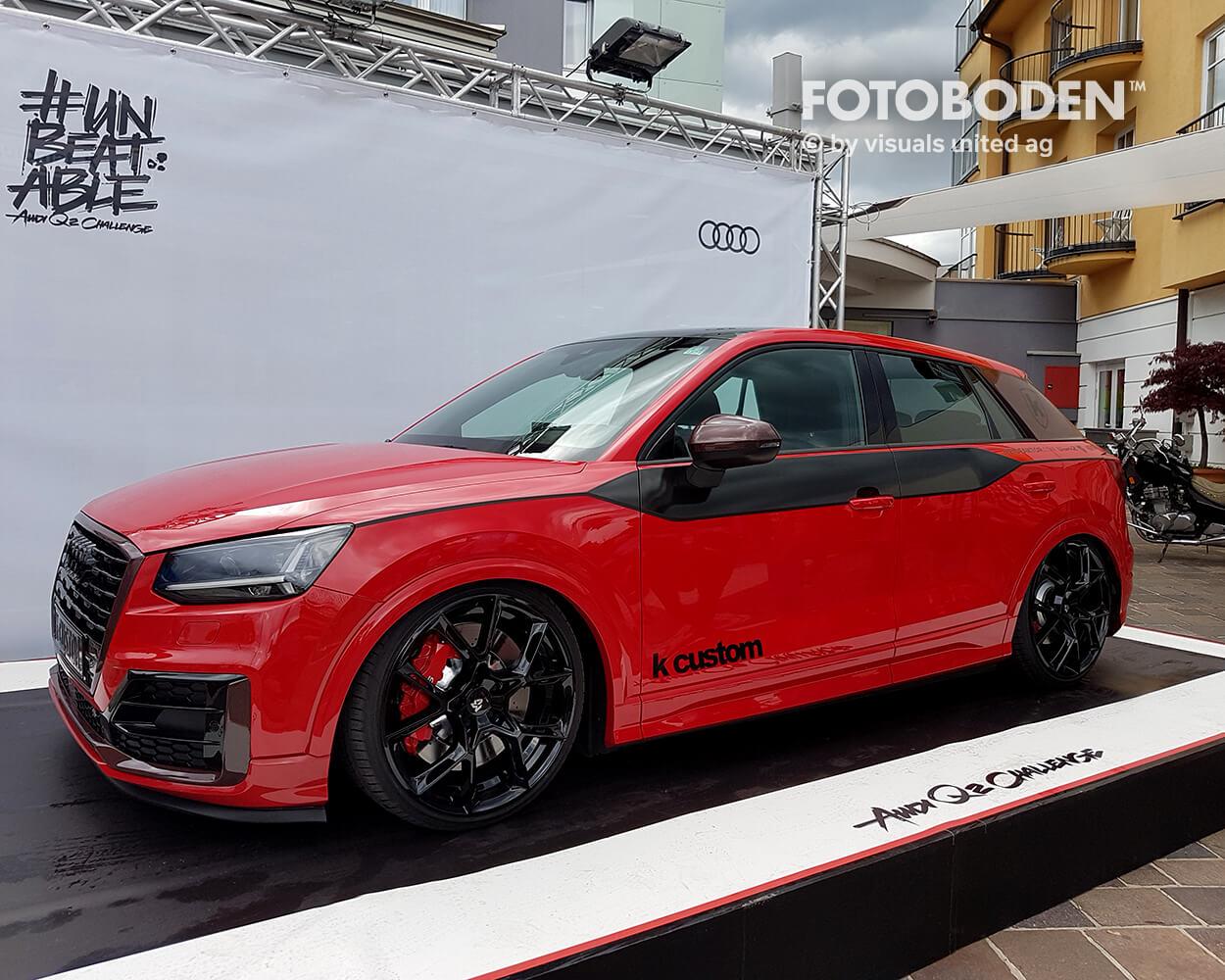 Audi Fotoboden Flooring Fußboden Bodengestaltung Floorminder Bodendruck Werbung Fußbodenwerbung Bodenwerbung Merchandising Advertising Visualmerchandising6