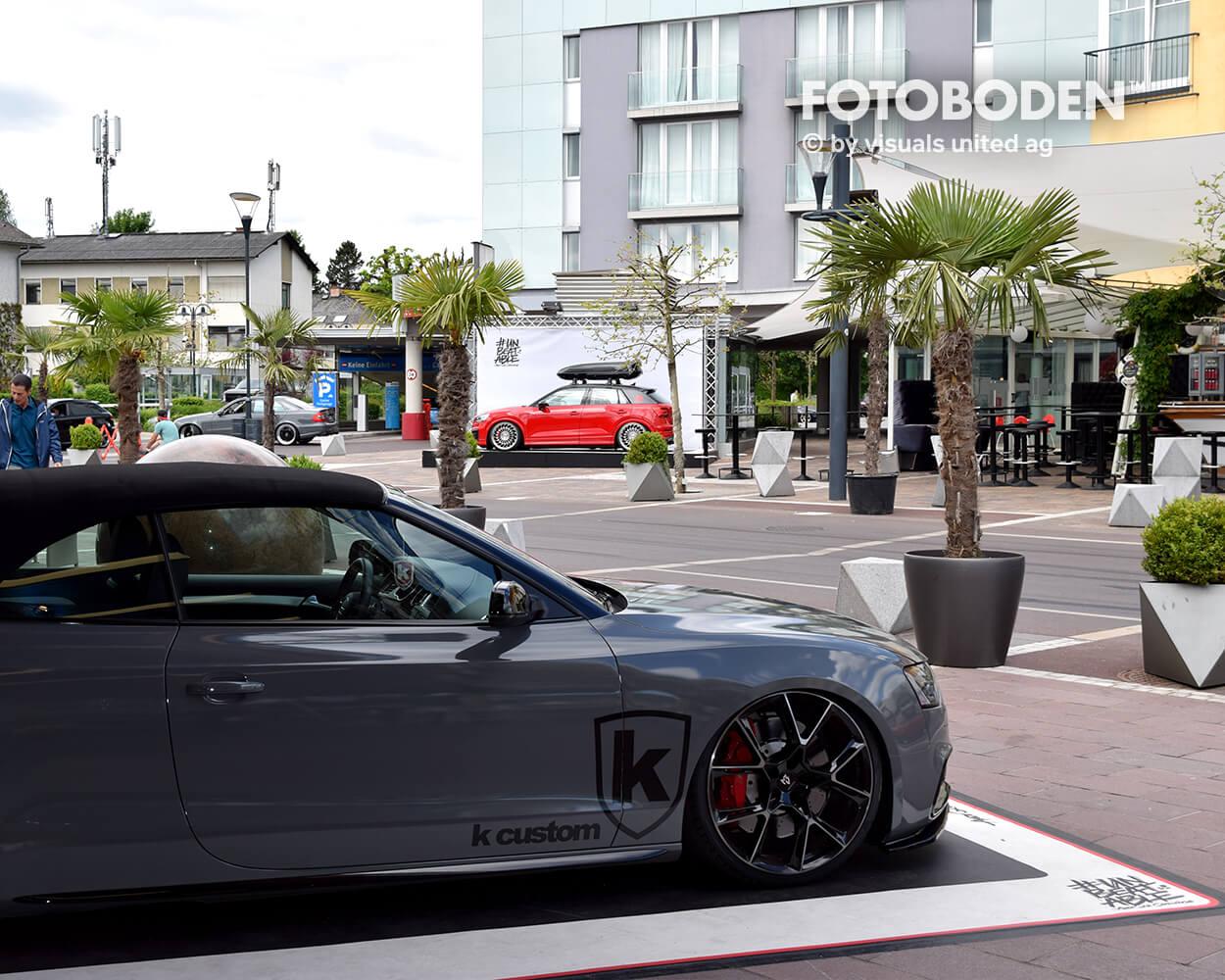 Audi Fotoboden Flooring Fußboden Bodengestaltung Floorminder Bodendruck Werbung Fußbodenwerbung Bodenwerbung Merchandising Advertising Visualmerchandising 4