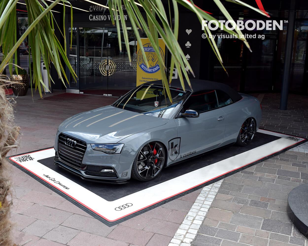 Audi Fotoboden Flooring Fußboden Bodengestaltung Floorminder Bodendruck Werbung Fußbodenwerbung Bodenwerbung Merchandising Advertising Visualmerchandising3