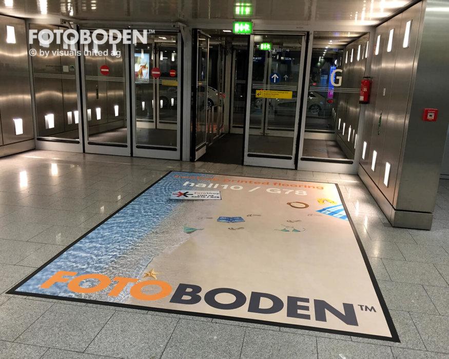 Fußboden Bodengestaltung Werbung