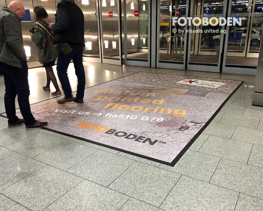 FOTOBODEN™ Werbung Personalisierte Fußmatte