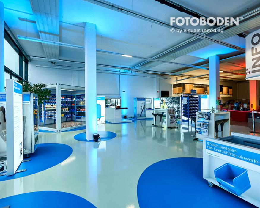 Schauram Ausstellung Einkaufszentrum Industriebodenbeläge