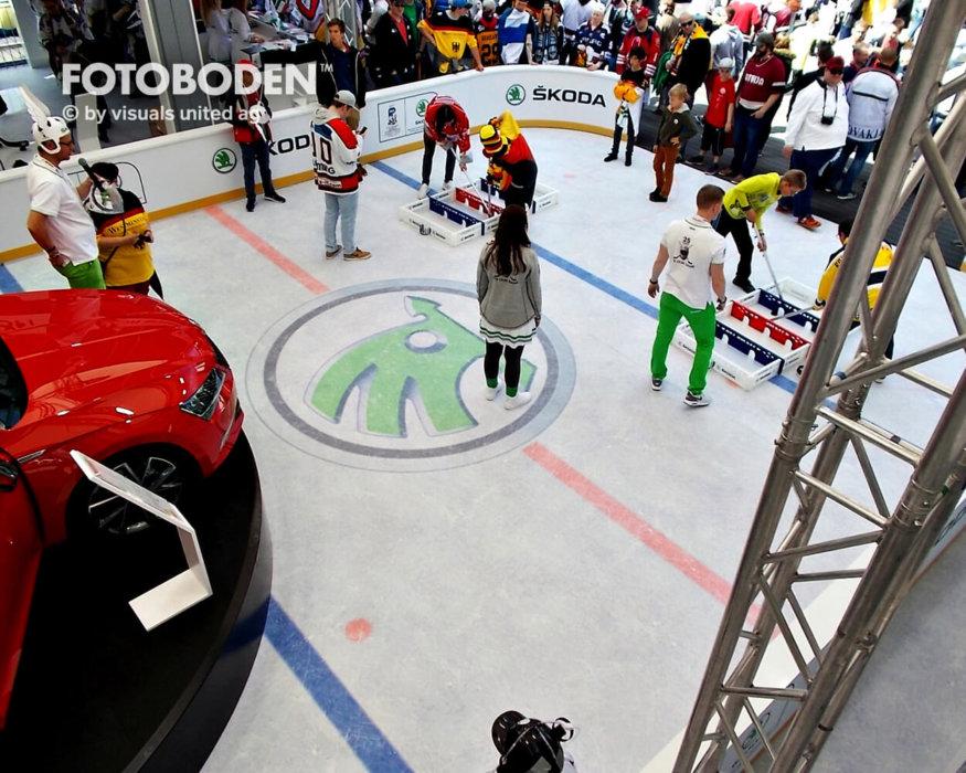 Eishockey Fotoboden Indoor Kindersportplatz
