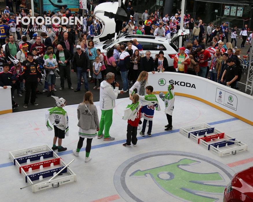 Eishockey Promotionstand Eventboden Fotoboden
