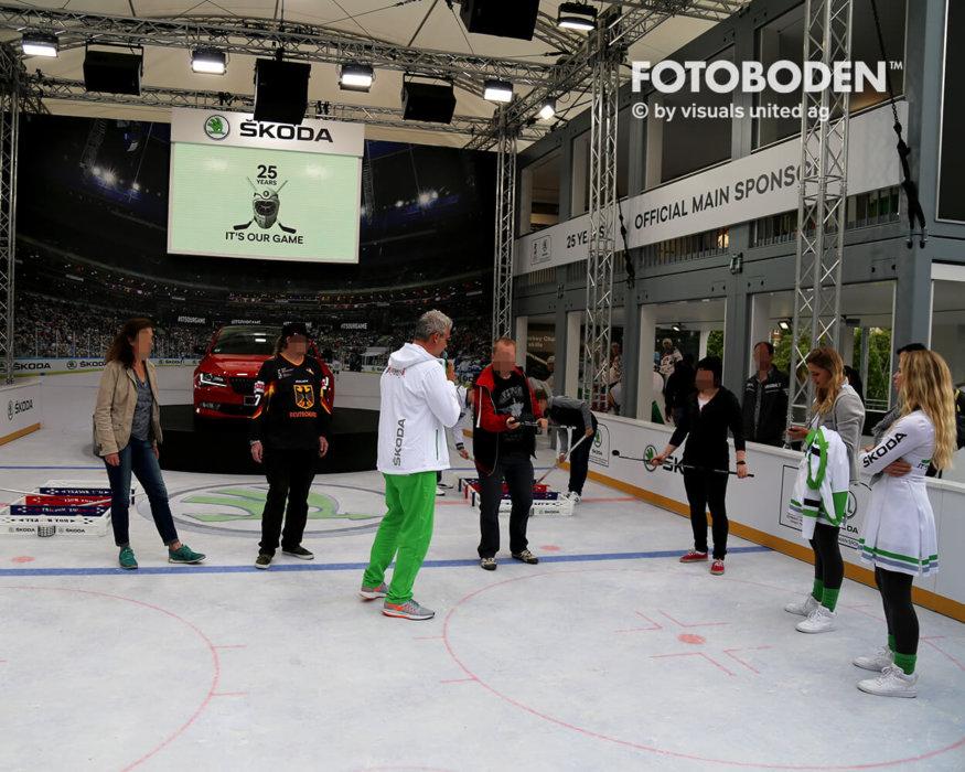 Eishockey Fotoboden Objektboden Designboden