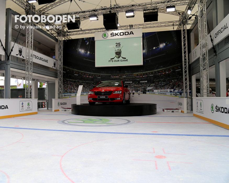 Eishockey Fotoboden Auto Ausstellungsdesign