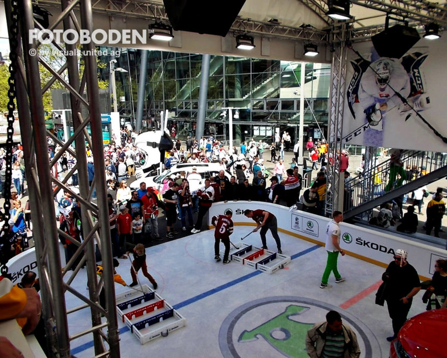Fotoboden Sportplatz Vinylboden