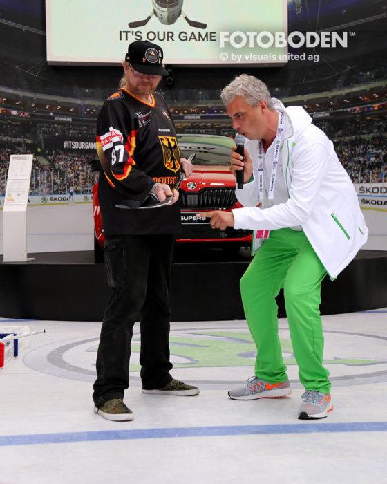 Eishockey Fotoboden Promotionstand Eventboden