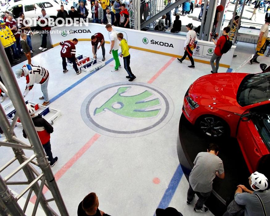 Eishockey Fotoboden Industriebodenbeläge PVC Vinyl