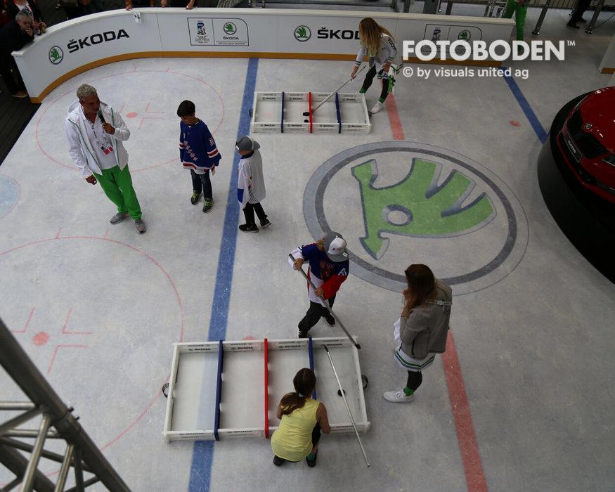 Eishockey Inder Kinderspielplatz Vinyl