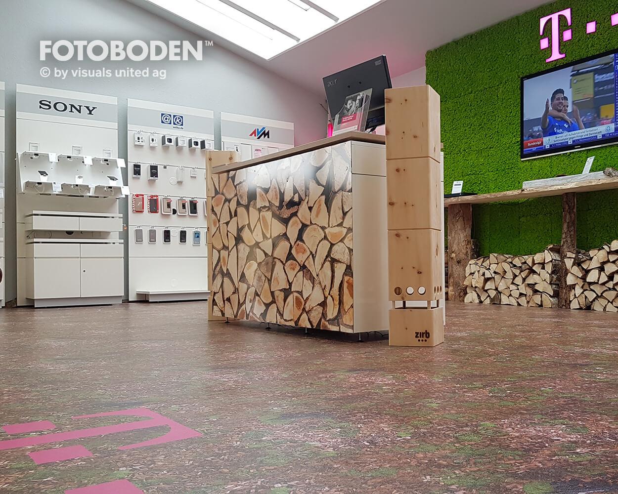 Telekom Showroom Ladenbau Ladengestaltung Fußboden Verkaufsfläche Bodengestaltung Boden Foto Fotoboden Fotomotiv Motiv Druck Visual Merchandising Point Of Sale POS(4)
