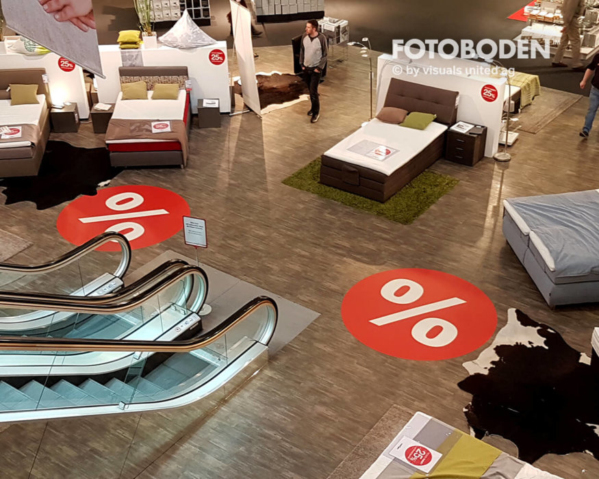 FOTOBODEN™ Verkaufsförderung Ausstellungsdesign Möbelhaus