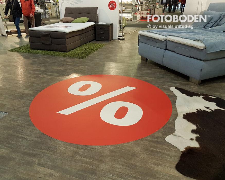 FOTOBODEN™ Verkaufsförderung PVC Bodenbelag