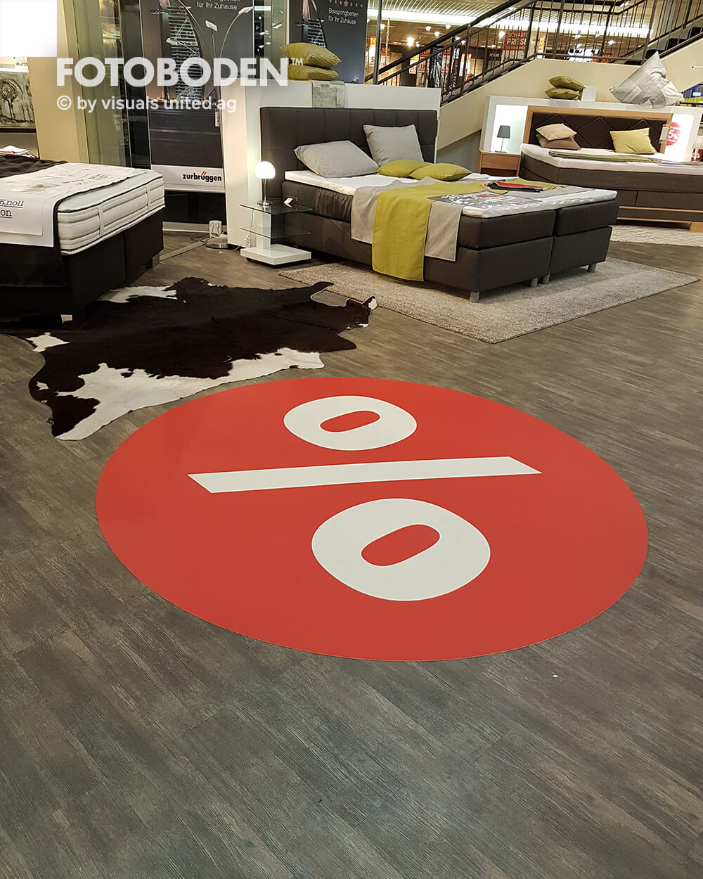 VMZB Fotoboden Flooring Fußboden Bodengestaltung Floorminder Bodendruck Werbung Fußbodenwerbung Bodenwerbung Merchandising Advertising