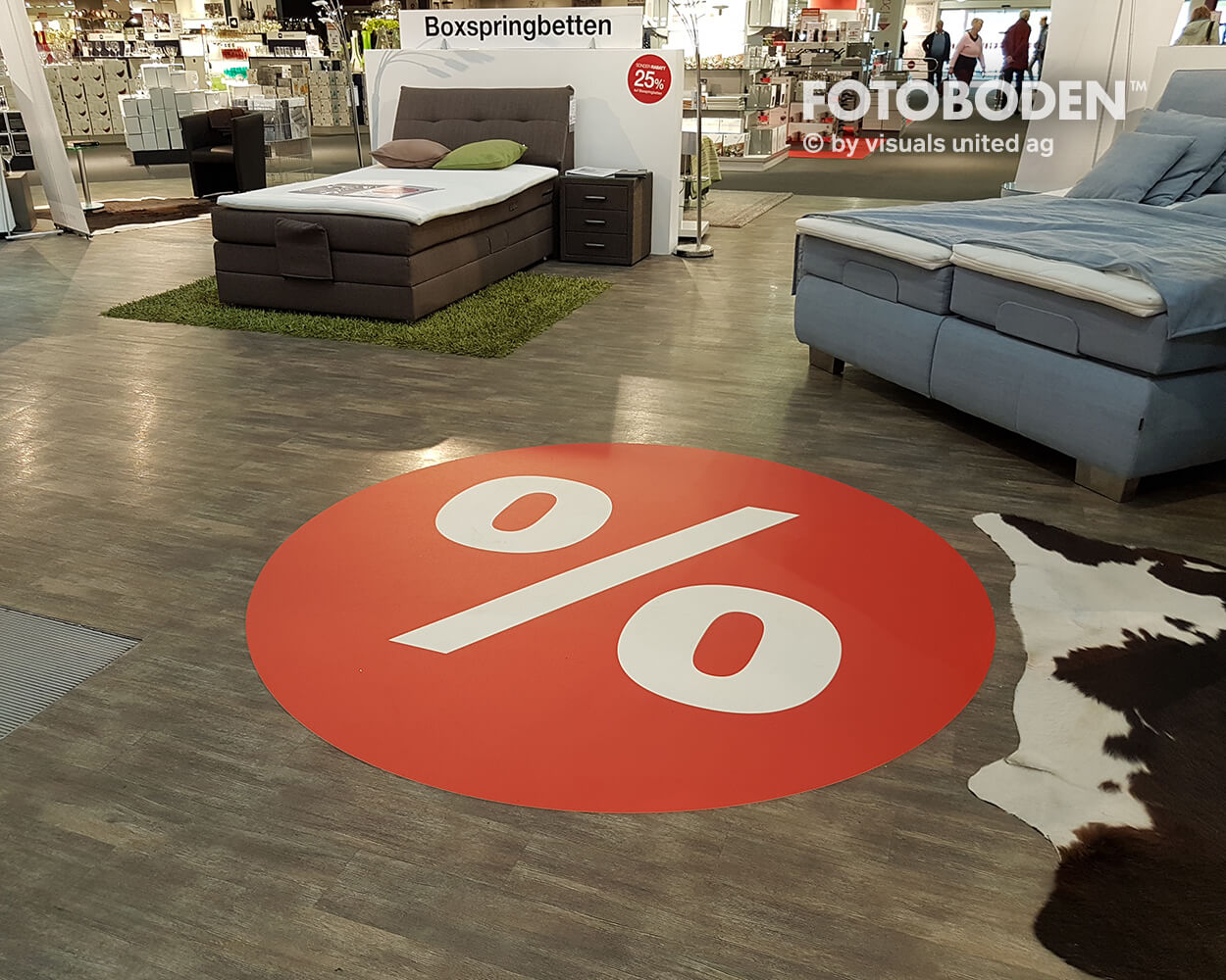 VMZB Fotoboden Flooring Fußboden Bodengestaltung Floorminder Bodendruck Werbung Fußbodenwerbung Bodenwerbung Merchandising Advertising2