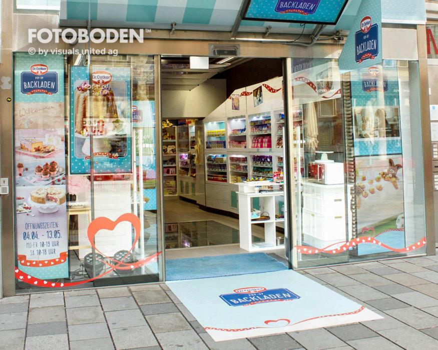 Ladenbau Verkaufsfläche Fußmatte Teppich Mit Logo