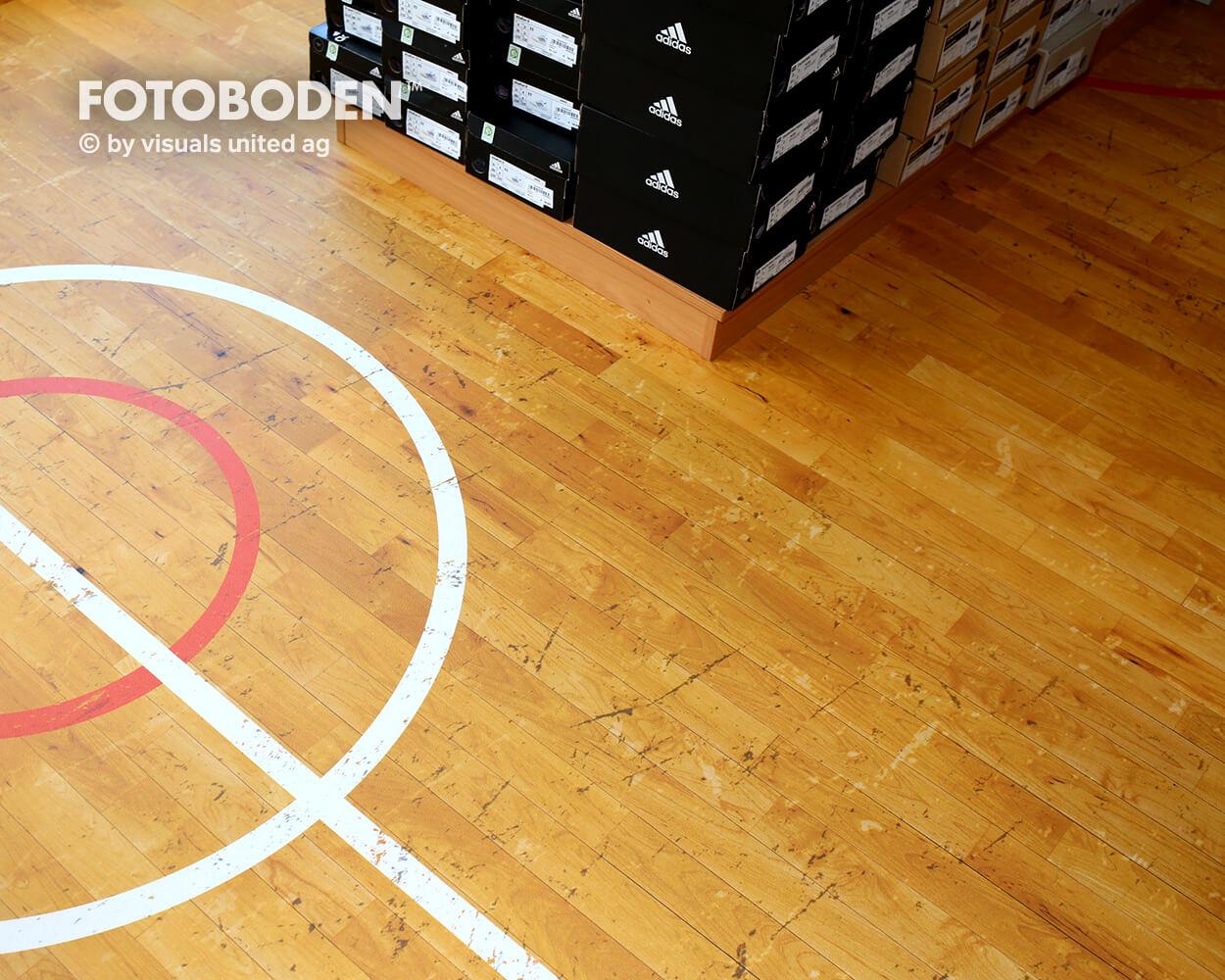 Sport3Ladenbau Ladengestaltung Fußboden Verkaufsfläche Bodengestaltung Boden Foto Fotoboden Fotomotiv Motiv Druck Visual Merchandising Point Of Sale POS