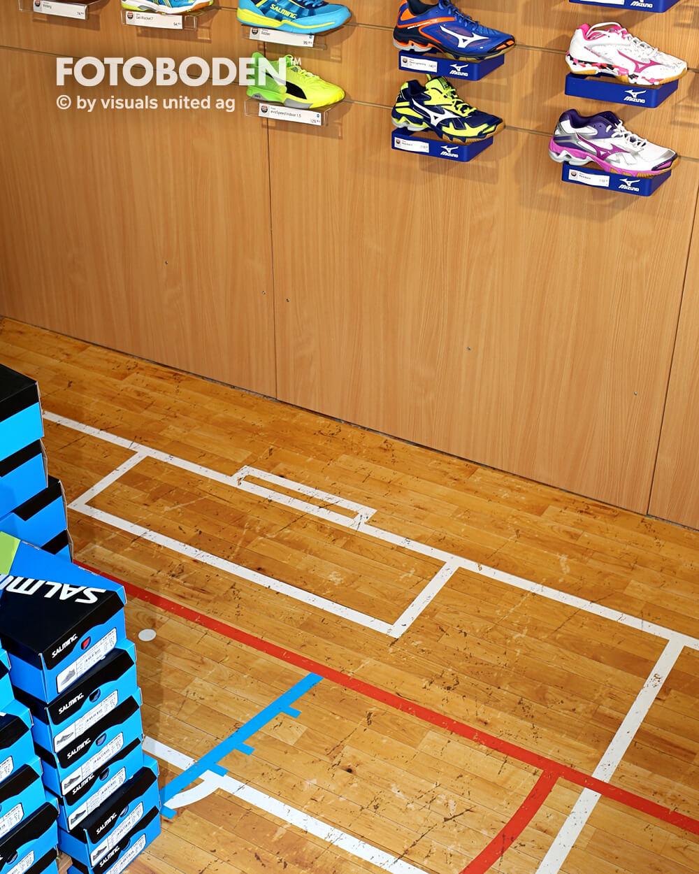 Sport5Ladenbau Ladengestaltung Fußboden Verkaufsfläche Bodengestaltung Boden Foto Fotoboden Fotomotiv Motiv Druck Visual Merchandising Point Of Sale POS