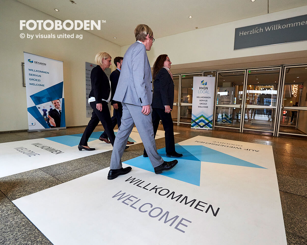 Hexagon FOTOBODEN™ Messeboden Tradeshow