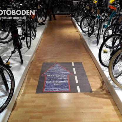 Messeboden Ladengestaltung Fußboden Verkaufsfläche